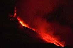 Surprise paroxysm (etnaboris) Tags: italy night volcano sicily etna eruption volcanicash lavaflow 2011 paroxysm lavafountain newsoutheastcrater paroxysmaleruptiveepisode