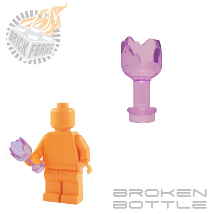 Broken Bottle - Trans Purple