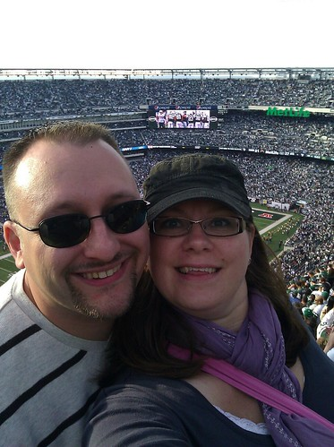 us at the jets game by sassyladybug