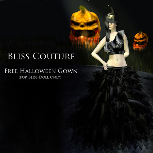 Free Halloween Witch Gown Ad (Bliss Doll Only) by Cherokeeh Asteria