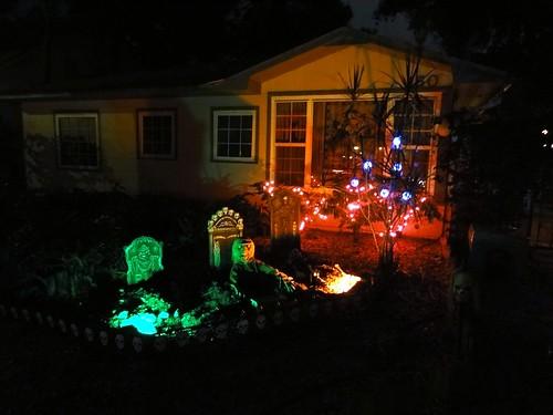 A Halloween graveyard