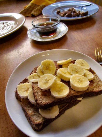 Topped with Bananas