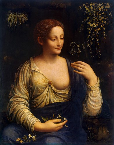 Francesco Melzi - Flora [1510-15] by Gandalf's Gallery