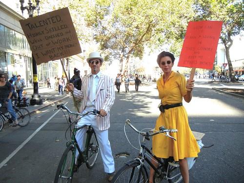 dapper protestor couple at Occupy Oakland General Strike