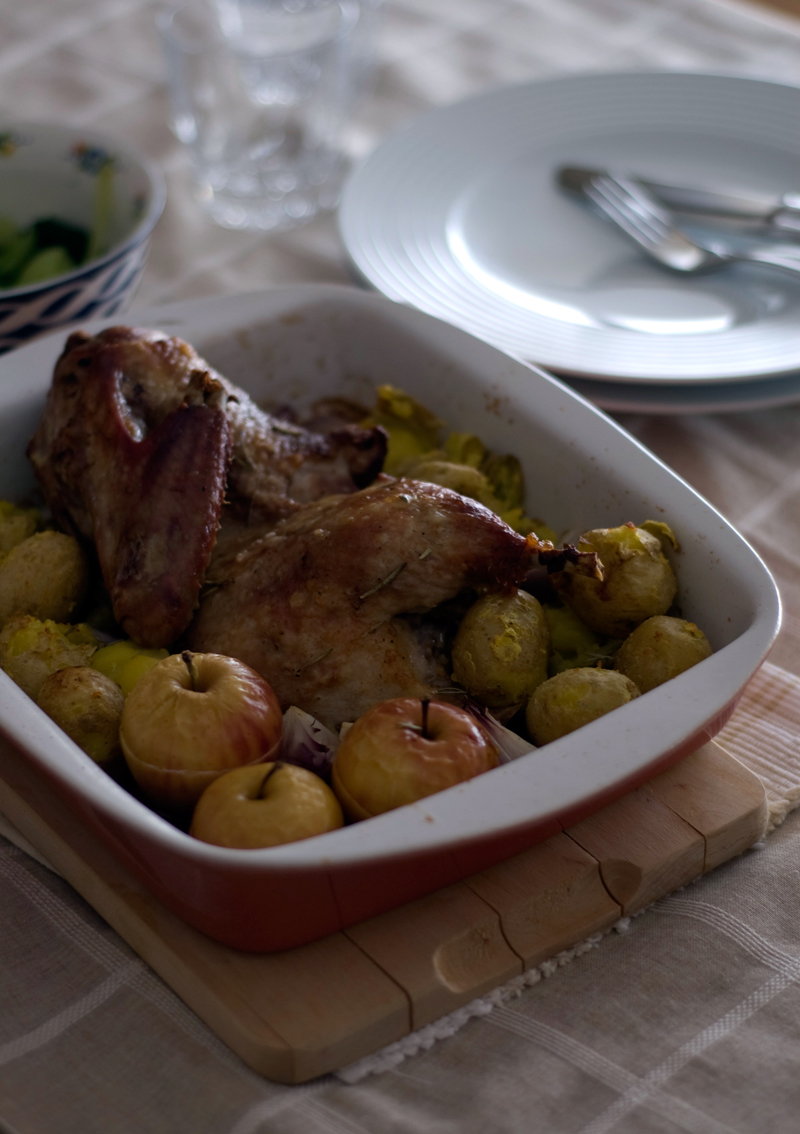 Pato com maçãs // Roast Duck with Apples