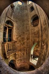 Julias Balcony (klickertrigger   new book out now) Tags: urban fish tower castle abandoned lost place decay balcony balkon saxony fisheye sachsen exploration schloss turm ue verlassen urbex verfall