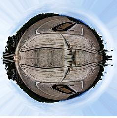Kallimarmaron Stadium little planet, Athens (amfipolos) Tags: panorama monument photoshop photography ancient stadium 360 athens panoramic greece sonycybershot polarcoordinates kallimarmaro littleplanet polarpanorama kallimarmaron αθήνα stereographicprojection καλλιμάρμαρο παναθηναϊκόστάδιο