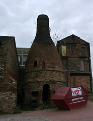 Past its best? Hopefully not ready for the skip yet! (stokeyouth1) Tags: building brick heritage architecture bottle oven urbandecay panasonic stokeontrent pottery skip kiln staffordshire compact listed potteries listedbuilding longton dmctz5 neckend normacotroad
