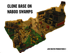 LEGO STAR WARS Clone Base on Naboo Swamps MOC (Jedi Master Productions) Tags: star lego swamps wars clone base naboo