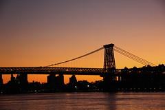 Williamsburg Bridge (JuhaOnTheRoad) Tags: sunset usa newyork brooklyn river eastriver williamsburg williamsburgbridge