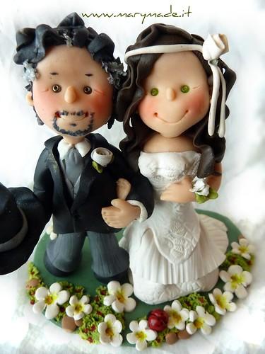 Cake topper Personalizzato per la torta nuziale di Eva e Davide