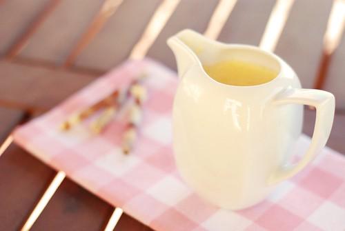 Crème anglaise orange