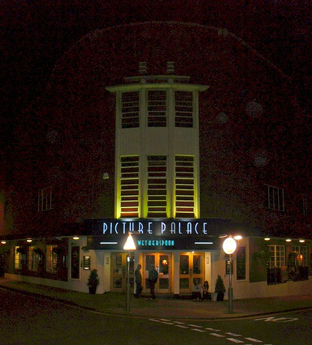 Former Braintree Cinema by Night