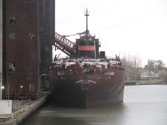 Herbert C. Jackson at ADM in Buffalo, NY (William Wilson 1974) Tags: lake ny water river niagarafalls boat canal buffalo ship vessel cargo wny