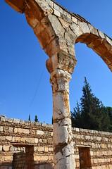 Anjar, Umayyad city, al-Walid I, 705-15, along the decumanus maximus (20) (Prof. Mortel) Tags: lebanon umayyad anjar