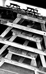(Lee Saboro) Tags: olympus c765 ultrazoom ultra zoom uz county park washtenaw rolling hills pavilion picnic table tables shelter winter store storage mono grayscale black white