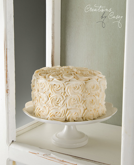 Rosette Frosted Cake
