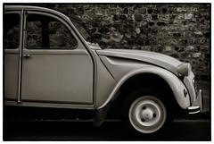 Deux Cheveau (Jean-Francois Phillips) Tags: france car wheel french automobile citroen voiture deux 2cv honfleur bonnet deuxcheveau cheveau