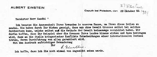 Letters of Note When Einstein wrote to Gandhi – Admiration Letter
