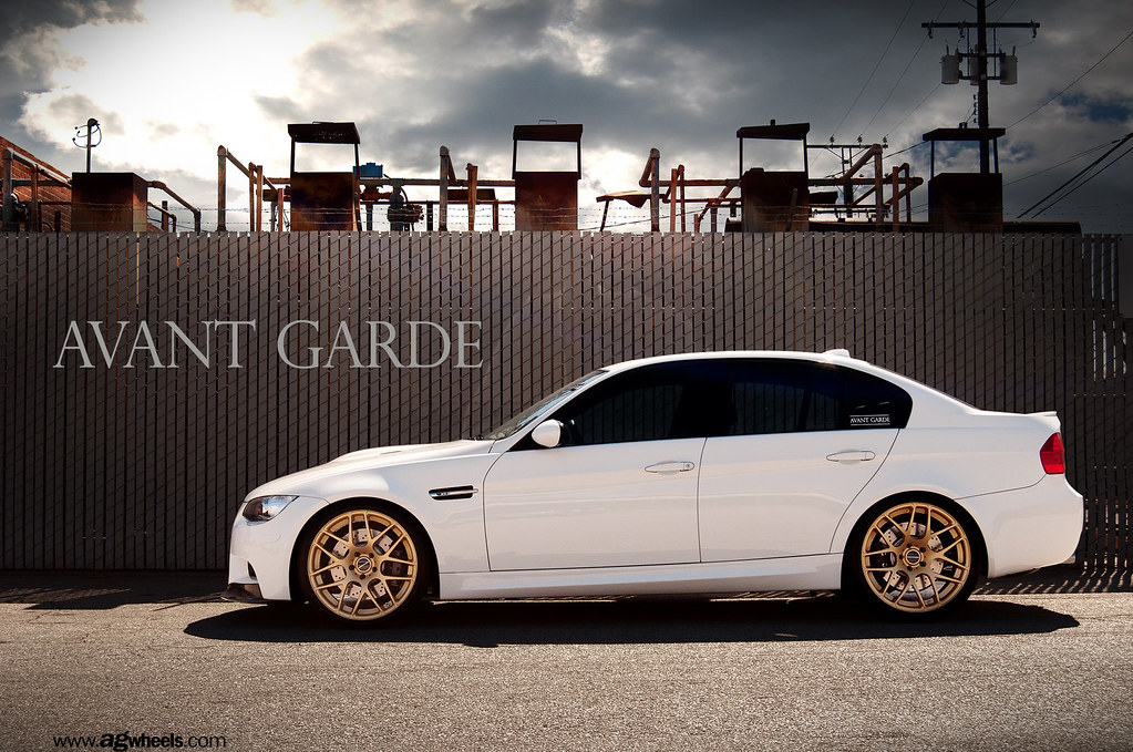 My E90 M3 On Gold Avant Garde M310