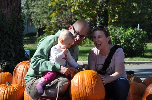 Us with Soleil in the Pumpkin Patch