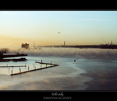 Morning mist Southampton docks (HB. Photography) Tags: cruise mist ship southampton independenceoftheseas
