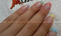 Francesinha colorida (laísa creatto) Tags: nail bolinhas unha colorido francesinha