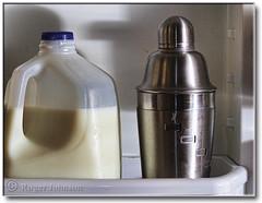 The Staples of Life (Romair) Tags: refrigerator milkjug photoshopelements martinishaker rogerjohnson topazadjust