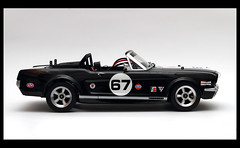 Ford Mustang 350 gt Convertible (chicco_u) Tags: show black ford car model body convertible racing 350 mustang tamiya gt rc drift hpi tt01 gopro mygearandme toridrift