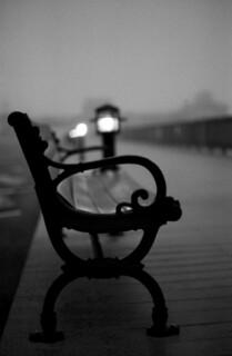 Boardwalk in Fog: Solomons, Maryland