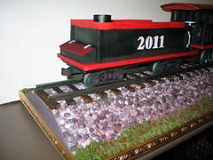 Locomotive Cake (Coal Car) (RDPJCakes) Tags: 3d fondant traincake sculptedcake ossas rdpjcakes locomotivecake