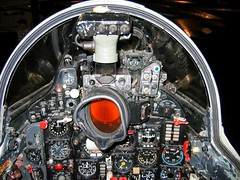Cockpit of the reg 473,  MIG-21