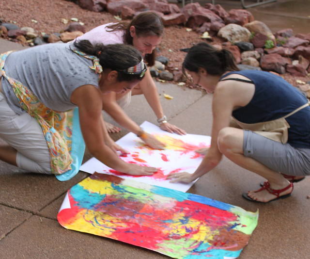 Collaborative Painting (Jennifer, Lisa W. & Tasha)