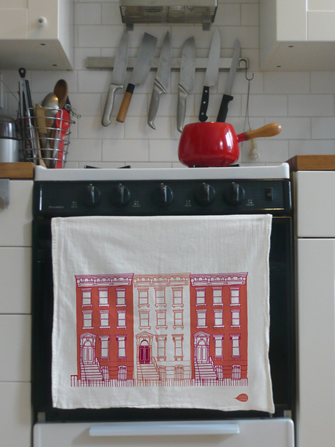 Brownstone Tea Towel