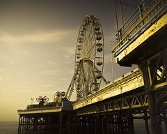 beyond the big wheel (Blackpool) (Andre Delhaye) Tags: uk sea england beach water lumix pier photographer andre panasonic blackpool 43 csc m43 mft mirrorless delhaye micro43 microfourthirds 43 wwwandredelhayecom wwwandredelhayenet 14mmf25 14mmf25asph lumix14mmf25 lumixg3 dmcg3 lumixdmcg3 panasonicg3 andredelhayephotographer