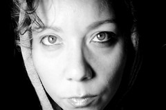 Insomnia is my mistress (allicette) Tags: portrait blackandwhite woman white black me female self hoodie intense october late insomnia 2011 allicette allicettetorres