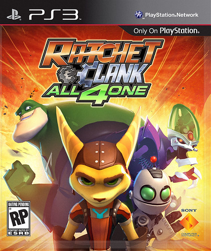 Ratchet & Clank: All 4 One pre-release box art: Near final
