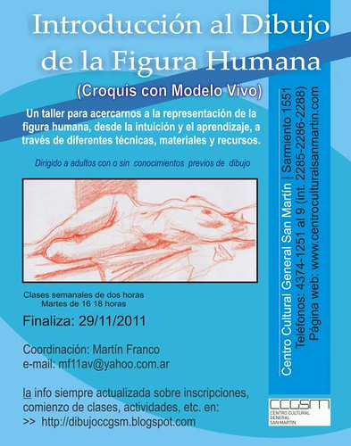 taller introducción al dibujo de la figura humana croquis con modelo vivo centro cultural general san martin