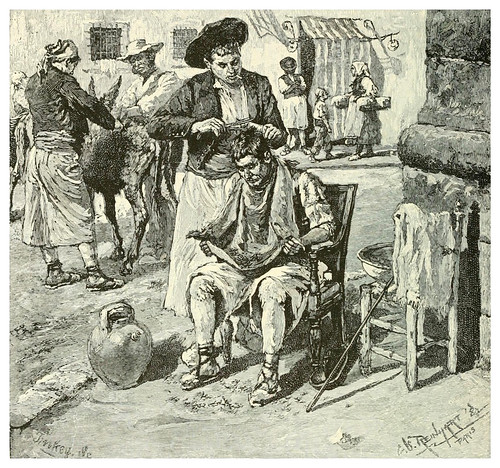 008-Barbero callejero en Andalucia-Spanish vistas-1883- George Parsons Lathrop