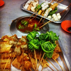 The sate celup was a riot! #malaysia #malacca by katemoves