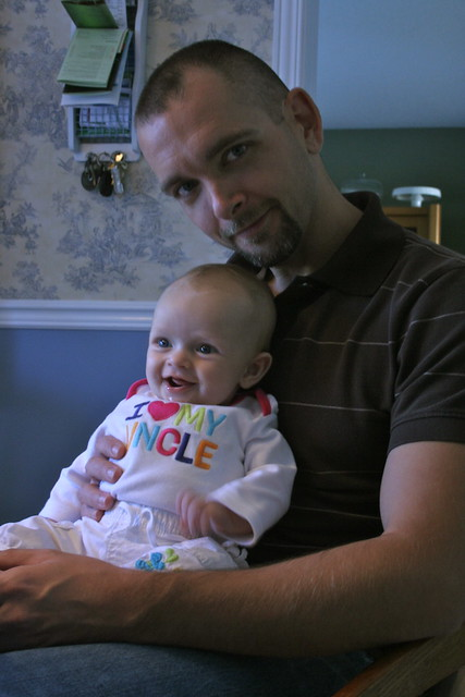 Halle and Uncle Mike - October 6, 2011
