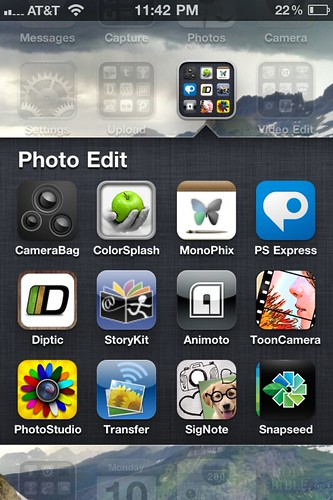 Photo Editing Apps  (Oct 2011)
