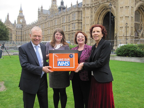 38 Degrees team handing in petition to an MP
