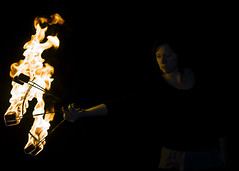 A Study in Curves and Angles (JoshMunsch) Tags: fire performance spinning fans firearts fireperformance firefirefire