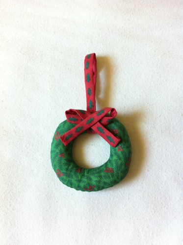 Mini Wreath Ornament finished
