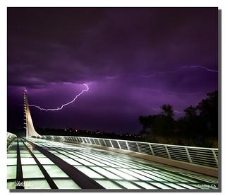 Sundial Bridge Lightning, The Sundial Bridge, Redding, CA