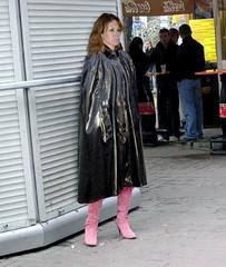 Waiting for .... (mallorcarain) Tags: fetish nice boots vinyl streetshots raincoat pvc bottes fakes stiefel raincape regenmantel cir lackmantel impermables