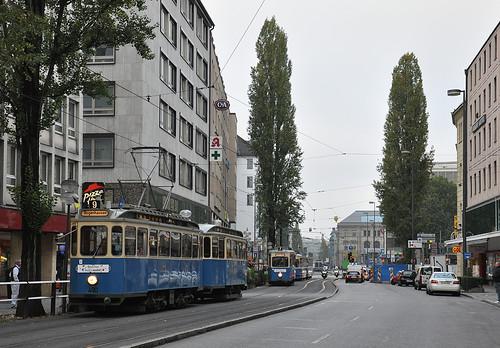 D-Wagen in der Bayerstraße