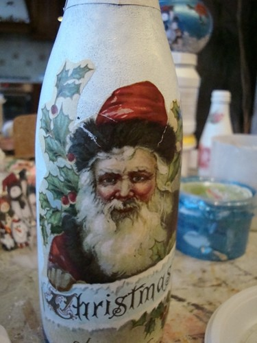 Christmas Shampain Bottle