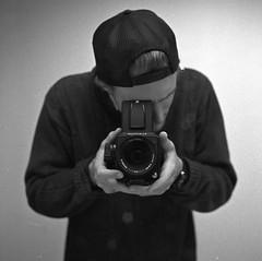 Myspace (Kyle Beiermeister) Tags: portrait self kyle mirror myspace hasselblad shallow f28 80mm 500cm snapback beiermeister